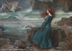 John William Waterhouse - Miranda - La tempesta (1916)