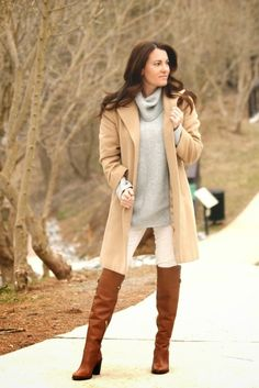 camel and grey winter outfit ideas - Google Search