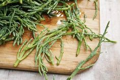 Recipe: Sea asparagus is the most delicious seafood you've never had - The Globe and Mail Sea Asparagus, Asparagus Recipe, Sea Vegetables, Veggies, Angler Fish, Fresh Herbs, Vegetable Recipes, Wine Recipes, Main Dishes