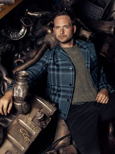 Patrick J. Adams opens up about Suits' surprising success, its awkward place in Trump's America, and his now very famous co-star, Meghan Markle Patrick J Adams, Gabriel Macht, Suits Tv Shows, Harvey Specter, Celebs, Celebrities, Esquire, This Man, Hot Guys