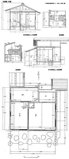 日本の建築技術の展開-18 の補足2・・・・妙喜庵 待庵の実測図 - 建築をめぐる話・・・・つくることの原点を考える                下山眞司
