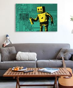 Another great find on #zulily! Coney Island Barcode Robot Gallery-Wrapped Canvas by iCanvas #zulilyfinds