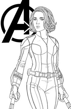 I was asked to draw Black Widow from Avenger: Age of Ultron. Lines/Inks by me Colors to come by Black Widow . Avengers Coloring Pages, Superhero Coloring Pages, Marvel Coloring, Disney Coloring Pages, Colouring Pages, Adult Coloring Pages, Coloring Pages For Kids, Coloring Books, Spiderman Coloring