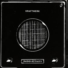 "Album cover for ""Radio-activity"" by Kraftwerk, a German group known for popularizing electronic music"