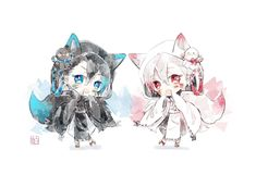 Chibi Cat, Cute Anime Chibi, Kawaii Chibi, Cute Anime Boy, Cute Anime Couples, Anime Songs, Chibi Characters, Art Drawings Sketches Simple, Cute Icons