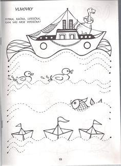 Kindergarten Books, Kindergarten Readiness, Preschool Writing, Pirate Activities, Activities For Kids, Line Tracing Worksheets, First Grade, Fine Motor, Homeschool