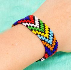 African Bead Loom Bracelet | AllFreeJewelryMaking.com