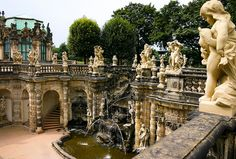 Nymphenbrunnen in the Zwinger Palace, Dresden, Germany Beautiful Sites, Beautiful Places, The Places Youll Go, Places To See, Dresden Germany, Berlin Germany, Germany Travel, Dream Vacations, Wonders Of The World