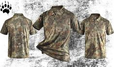 The SFD Camouflage T-Shirts offer the wearer breathabilty and function while looking smart and ready for business. Camouflage T Shirts, Hiking Gear, Summer Shorts, Polo Shirt, Survival, Free Shipping, Camping, Clothes, Tops