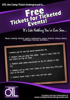 OTL - Comp Ticket Underground  #FreeTickets #SeatFiller