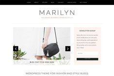 Marilyn WordPress Theme by Bluchic on @creativemarket