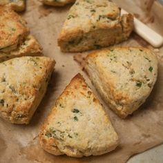 Wild Garlic Ideas # 11 Wild garlic & lancashire cheese scones