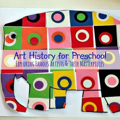 Art History for Preschool by PlaygroundParkbench - a series to introduce your young artist to art history, famous artists and their masterpieces.  Complete with list of reference books, art supplies and preschool reproductions of famous works of art and techniques