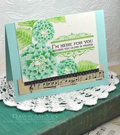 Here For You Card by Dawn McVey for Papertrey Ink (August 2013)  I like the coloring on this one--very pretty