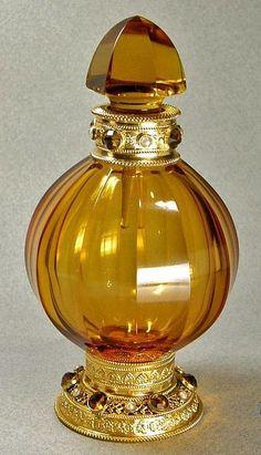 Sprinkler Vintage Moroccan Cobalt Blue Glass/silver Perfume/ Rose Water Bottle