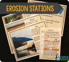 7 Ideas to Teach Slow Changes: Erosion station activities give students additional time to explore and review.