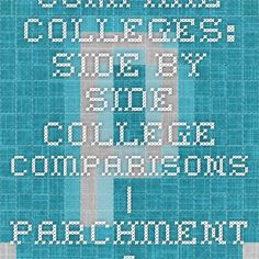 Compare Colleges: Side-by-side college comparisons   Parchment - College admissions predictions.