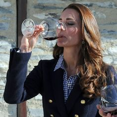 Pin for Later: With 1 Glass of Wine, Kate Middleton Ends Pregnancy Speculation