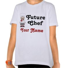 Personalized Future Chef Kids Tee T Shirt, Hoodie Sweatshirt