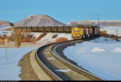 High quality photograph of Union Pacific GE # UP 6701 at Palmer Lake, Colorado, USA. Palmer Lake, Union Pacific Railroad, Railroad Photography, Old Trains, Train Tracks, Locomotive, Diesel, Colorado, America