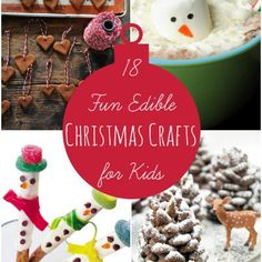 Build anticipation for the holidays with these 18 fun edible Christmas crafts for kids that everyone will love!