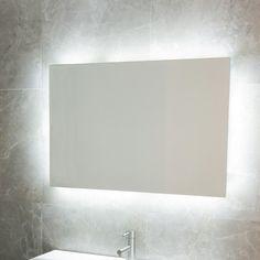 Backlit mirror.