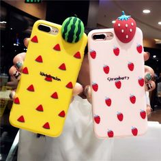 Compatible iPhone Model: iPhone 7 Plus,iPhone X,iPhone 6 Plus,iPhone plus,iPhone 8 Plus. Features: Lovely Cute Girly Fruit Patterned Case For iPhone X. People: For Girl Woman Lover Best Gift. Diy Phone Case, Cute Phone Cases, Iphone Phone Cases, Cellphone Case, Iphone Charger, Capas Iphone 6, Apple Store, Latest Phones, Floral Iphone Case