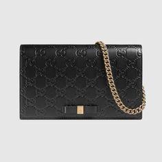 71455b3f7 Gucci Signature mini bag   895 black Gucci Leather Bag