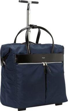 KNOMO London Sedley Rolling Laptop Bag Navy - via eBags.com!