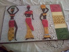 African Art Paintings, Wood Projects, Diy Crafts, Frame, Decor, Alphabet, Frames, Craft, African Paintings