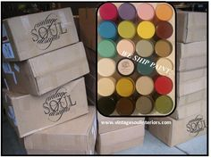 The Vintage Soul ships chalk-based paint, waxes, glazes and brushes worldwide.