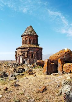 Saint Gregory of the Aburaments Church in Ani. Ani is a medieval Armenian city-site situated in the Turkish province of Kars, once the capital of a medieval Armenian kingdom. Photo by Christian Clausier