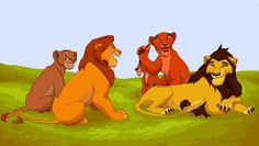 It was nearly 2 days since Zira left her pride. She knew she can no longer stay there. If someone knew that the cubs she was carrying in her had another father than the one she already gave birth t. Lion King Simba's Pride, Lion King Fan Art, Lion King 2, Lion Art, Disney Lion King, Sunny D, Old Best Friends, Disney Fine Art, Walt Disney