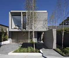Inglis Architects | TOORAK HOUSE 2 Flat Roof House, Facade House, House 2, Residential Architecture, Amazing Architecture, Modern Architecture, Duplex Design, Townhouse Designs, Modern House Facades