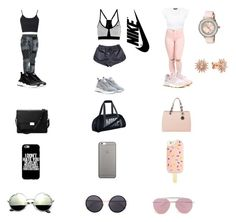 """""""Untitled #139"""" by alexia2018 on Polyvore featuring NIKE, Topshop, MICHAEL Michael Kors, Aspinal of London, Native Union, Tory Burch, Linda Farrow, Boohoo and Ted Baker"""