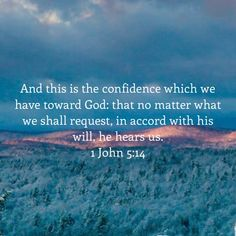 1 John And this is the confidence which we have toward God: that no matter what we shall request, in accord with his will, he hears us. Biblical Quotes, Religious Quotes, Bible Verses Quotes, Faith Quotes, Spiritual Quotes, Wisdom Quotes, Prayer Scriptures, Bible Prayers, Faith Prayer