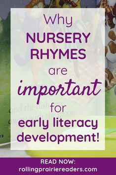 """As Mem Fox says, """"rhymers will be readers."""" Learn more about the importance of nursery rhymes in literacy development for toddlers and preschoolers. Rhyming Activities, Preschool Literacy, Literacy Skills, Early Literacy, Kindergarten Reading, Toddler Preschool, Preschool Activities, Montessori Homeschool, Homeschooling"""
