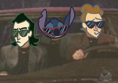 Though why is Stitch with Loki and Tom? <-- I hope you didn't mean that as a bad thing! <<< It's something made from the comic Loki and the Loon Loki Thor, Loki Laufeyson, Tom Hiddleston Loki, Avengers Cartoon, Marvel Funny, David Bowie Labyrinth, Hulk, It Goes On, Geek Girls