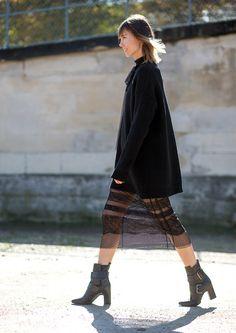Anya Ziourova Street Style Paris Fashion Week