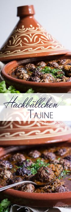 Tajine mit Hackbällchen in Tomatensauce Tagine with meatballs in tomato sauce Meatball Recipes, Meat Recipes, Chicken Recipes, Spinach Health Benefits, Sauce Tomate, Jamaican Recipes, Asparagus Recipe, Eat Smart, Arabic Food