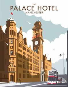 The Palace Hotel, Manchester. By illustrator, Dave Thompson wholesale fine art print