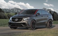 Mansory, tuning, Mercedes-Benz GLE-Class Coupe, 2016 cars, C292, gray GLE, Mercedes