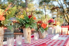 Love the picnic table theme and the bright colors