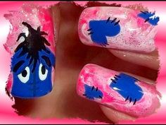 Eeyore Nails Nail Art How To