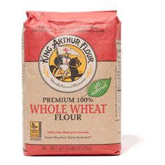 King Arthur Premium Whole Wheat Flour- makes the best muffins. Not too heavy.