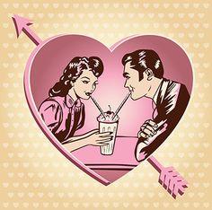 vintage valentines day clip art