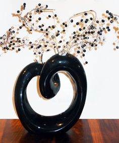 Black Steel Flower Vase