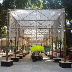BMW Guggenheim Lab. Central Lab, Dr. Bhau Daji Lad Museum plaza. Fotografía: Deepshikha Jain © 2012 Solomon R. Guggenheim Foundation.