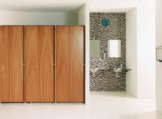 Ironwood Manufacturing Phenolic Toilet Partitions And Bathroom Doors - Wood bathroom stall partitions