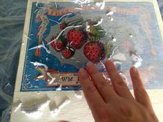 Foto Transfer Potch, Photo Transfer, Diy Food, Box, Strawberry, Shabby, Fruit, Ideas, Strawberries